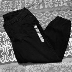 Rue 21 Plus Black Ultra Stretch Mid Rise Jeggings